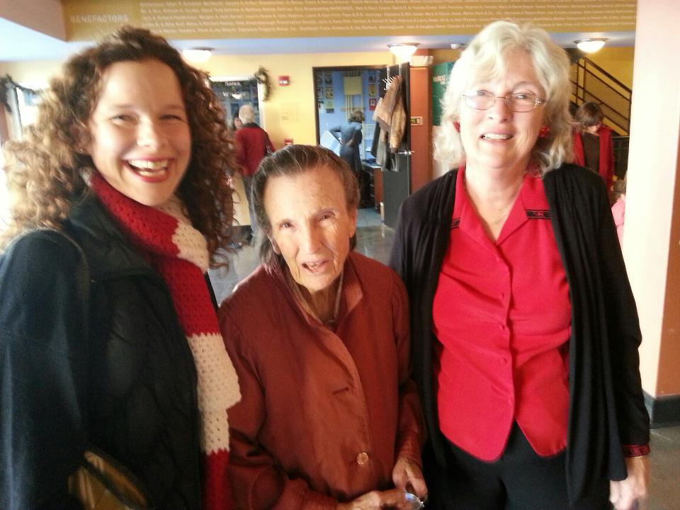Greensboro resident Betsy Blake (left to right) with her grandmother and mother. The three women attended The Gathering Saturday matinee at Triad Stage on Thanksgiving weekend.